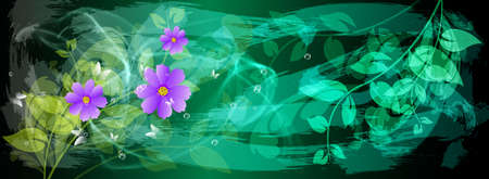 iillustration and painting: Abstract colorful  floral background Stock Photo