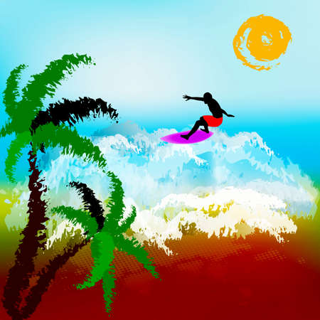 Happy rest on exotic tropical island  Abstract summer backgro photo