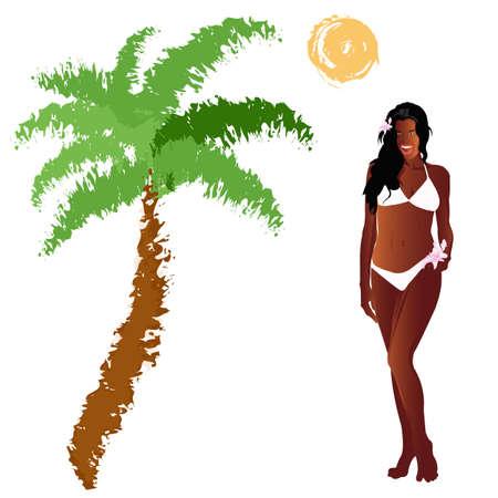 Romantic travel on exotic tropical island  Stock Photo
