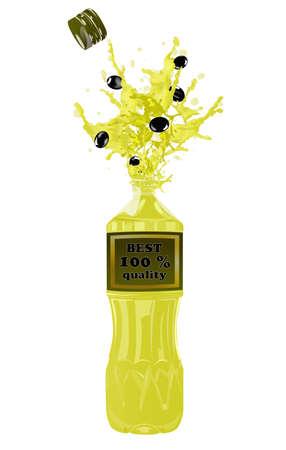 Bottle of oil olive Stock Vector - 17503922