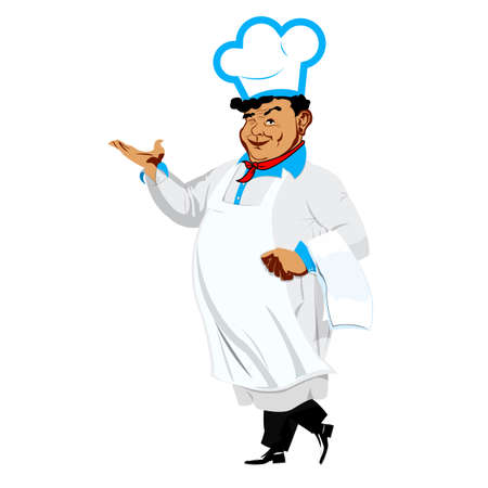 Funny Chef on a white background