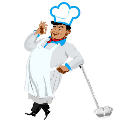 Funny Chef on a white background Vector