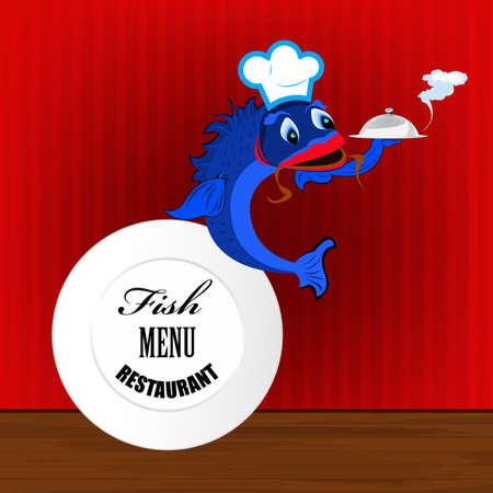 Best fish menu from restaurant  Vector