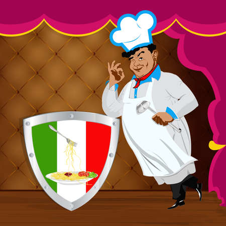 Traditional italian best food from Chef Vector Stock Vector - 17772996