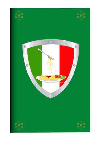 eatable: Traditional italian best food  Menu design restaurant  Vector Illustration