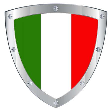 Emblem safety Italian on a white background photo