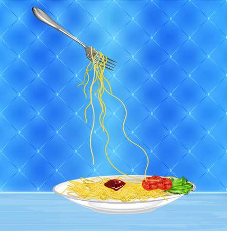 Traditional italian best food Spaghetti photo