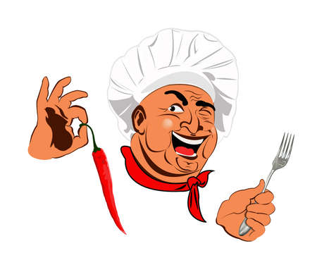 Funny Chef Best food for gourmet Stock Photo - 17947821