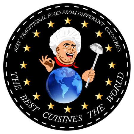 Business design card restaurant Sticker Vector