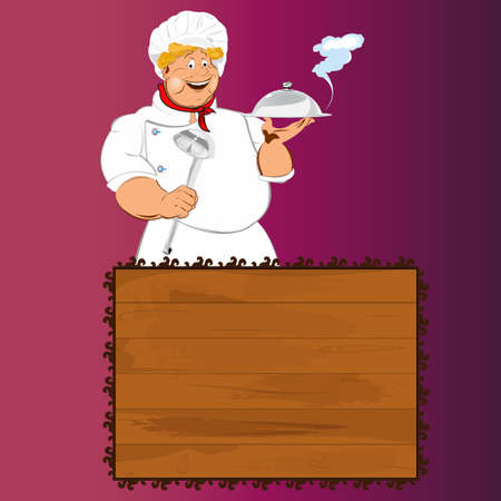 Funny Chef Best food for gourmet Stock Vector - 17947934