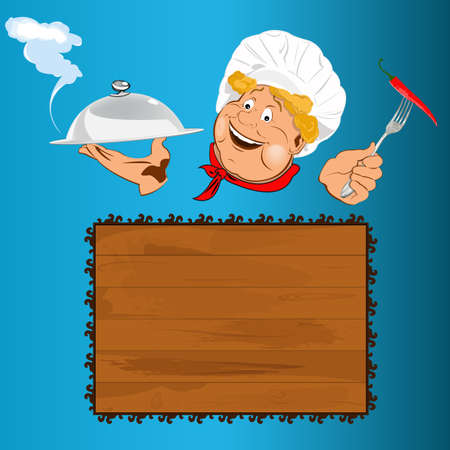 Funny Chef and best food for Gourmet  Stock Photo - 17955522