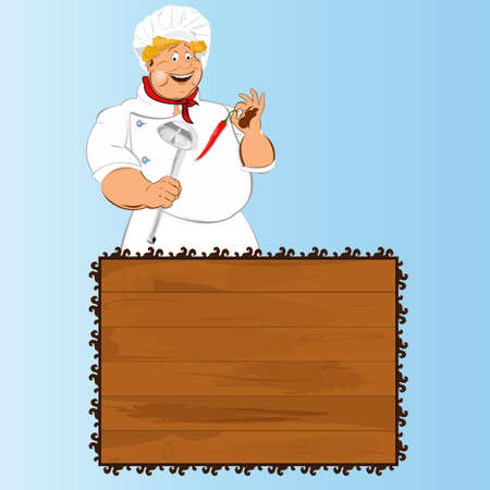 Funny Chef and best food for Gourmet Stock Photo - 17955509