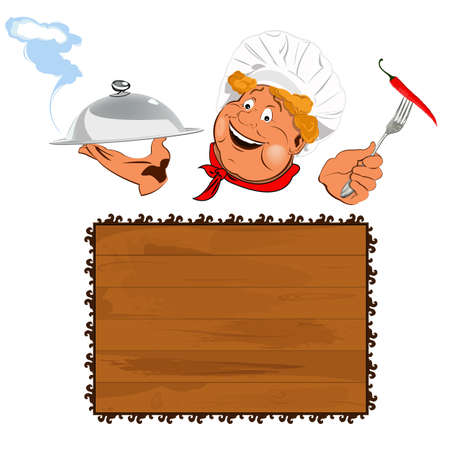 Funny Chef Best food for gourmet Stock Photo - 17947930