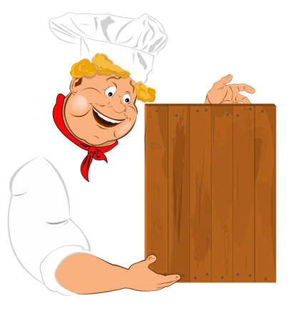 Funny Chef and menu best food for Gourmet Stock Photo - 17976997