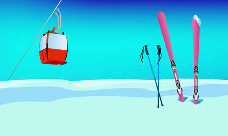 Winter sports skiing rest Vector