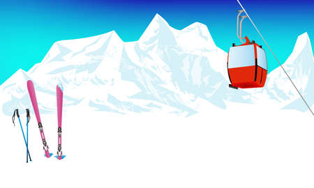 swiss alps: Winter extreme sports skiing rest in Alpine resorts