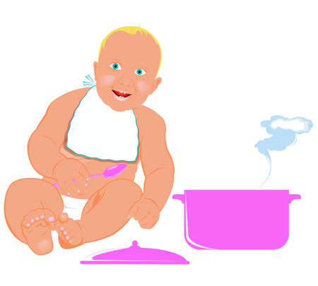 Healthy nutrition food for baby  photo