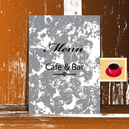 Brochure menu for restaurant, cafe   Stock Vector - 18552573