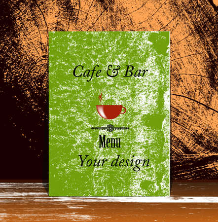 Brochure menu for restaurant, cafe Vector