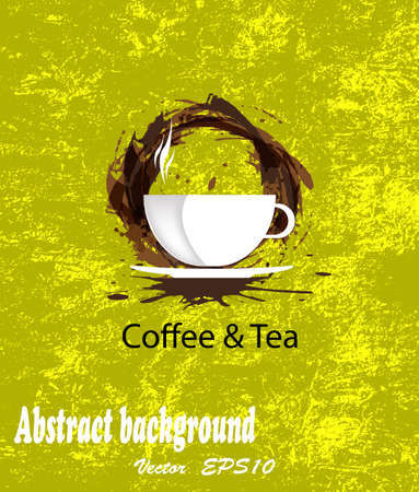 Brochure menu for restaurant, cafe Coffee and tea  Vector Vector