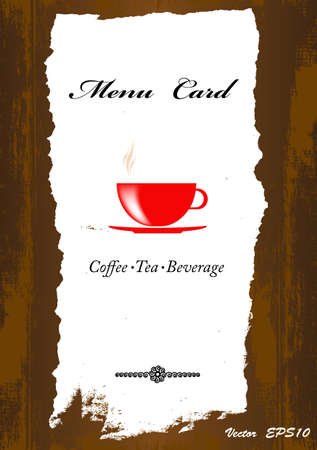 Brochure menu for restaurant, cafe Coffee and tea  Vector Vector