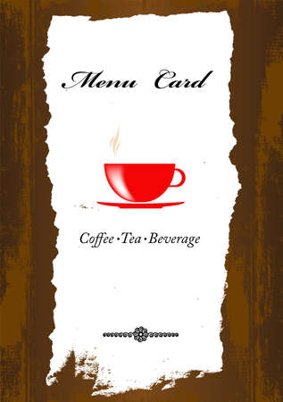 Brochure menu for restaurant, cafe Coffee and tea  photo