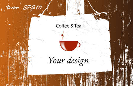 Brochure menu for restaurant, cafe Coffee and tea  Vector