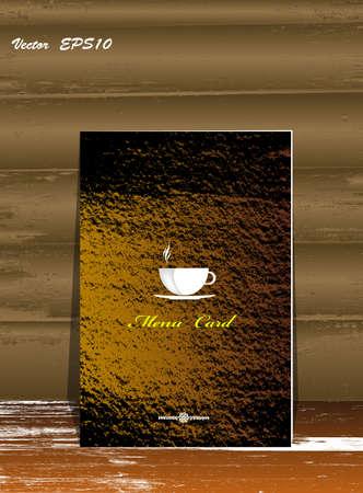 Brochure menu for restaurant, cafe Coffee and tea