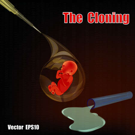 The cloning people  Medical research in the genetics of the future Vector