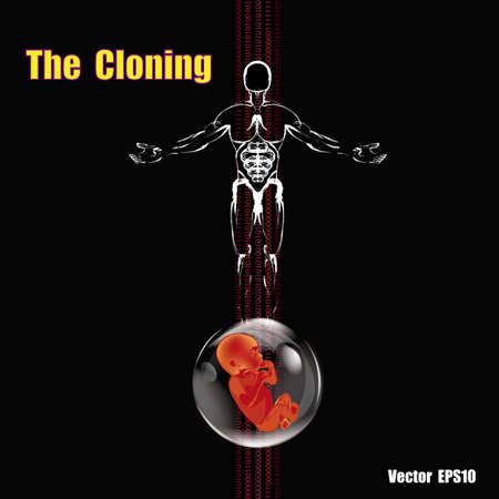 genetic research: The cloning people  People future Genetic research Vector