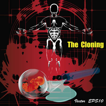 The cloning people  People future Genetic research Vector