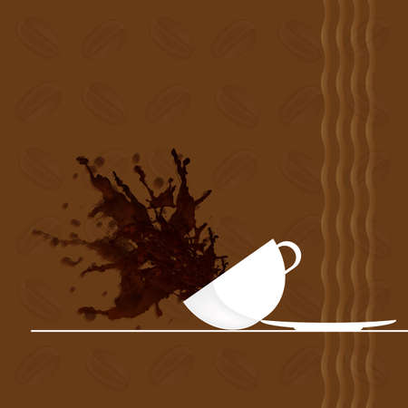 glace: Coffee background Restaurant business card Vector Illustration