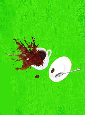 glace: Coffee cup on a abstract background Restaurant business