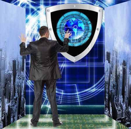 newest: The newest Internet technology Connection Cybersecurity Stock Photo