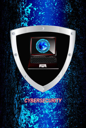 The newest Internet technology Connection Cybersecurity Vector