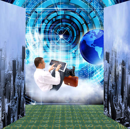 the newest: The newest Internet technology Connection Cybersecurity Stock Photo