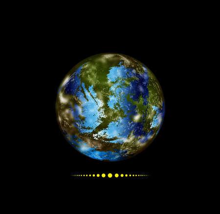 cyberspace: Innovative programming internet Globe Earth Illustration