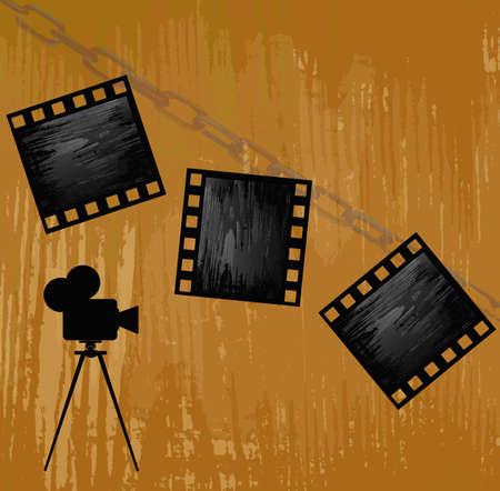 кинематография: Ретро кинематограф абстрактный фон вектор
