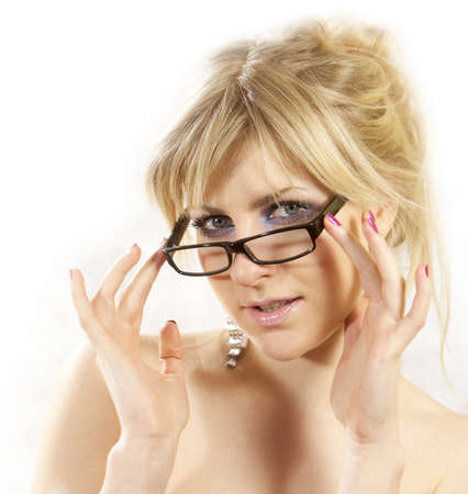 Beautiful glamor girl with glasses Vision Care photo