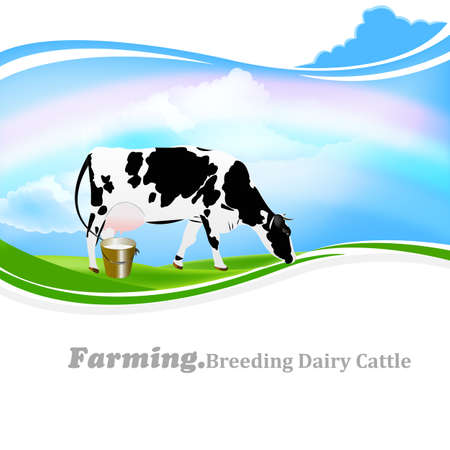 Dairy Farming background Vector