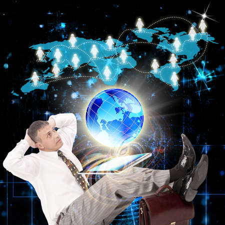 newest: E-business  The newest Internet technologies Stock Photo