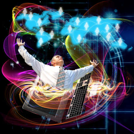 The newest Internet technologies Stock Photo - 21905441