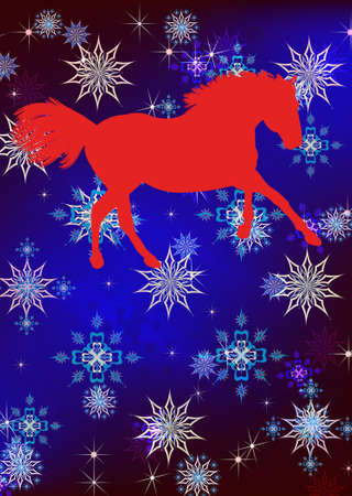 The New Year of the Horse Festive Christmas card photo
