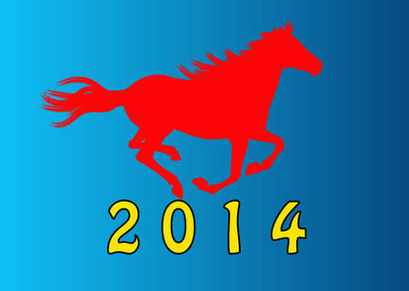 The New Year of the Horse Stock Photo - 22445237