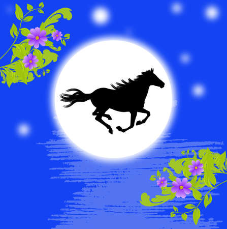 The New Year of the Horse Stock Photo - 22445249