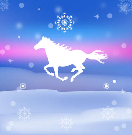 The New Year Horse Stock Photo - 22445250