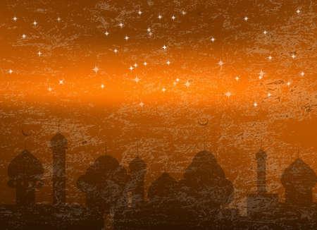 Abstract night background for Ramadan Kareem photo