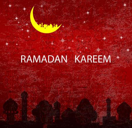 Abstract dark  texture background for Ramadan Kareem Stock Vector - 22445293