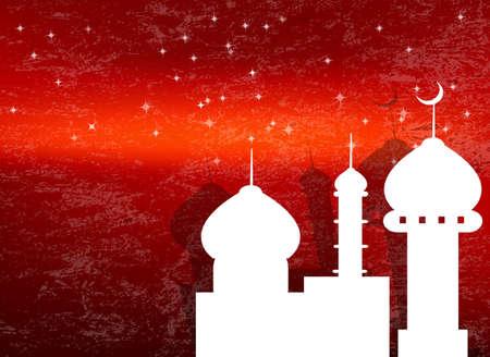 Abstract dark  texture background for Ramadan Kareem Stock Vector - 22445372