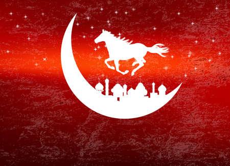 Abstract dark  texture background for Ramadan Kareem Stock Vector - 22445376